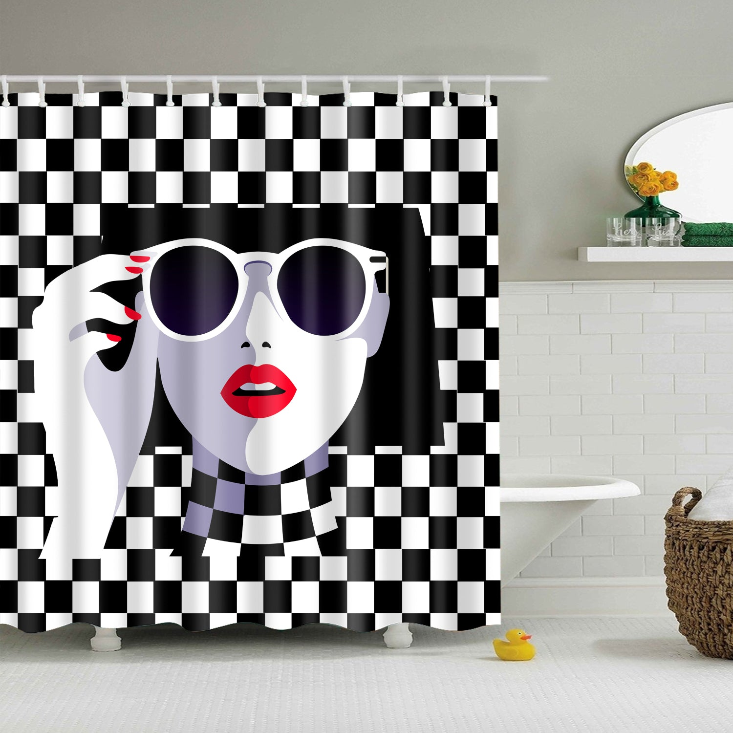 Malika Favre Fashion Girl Schermata Shower Curtain | GoJeek
