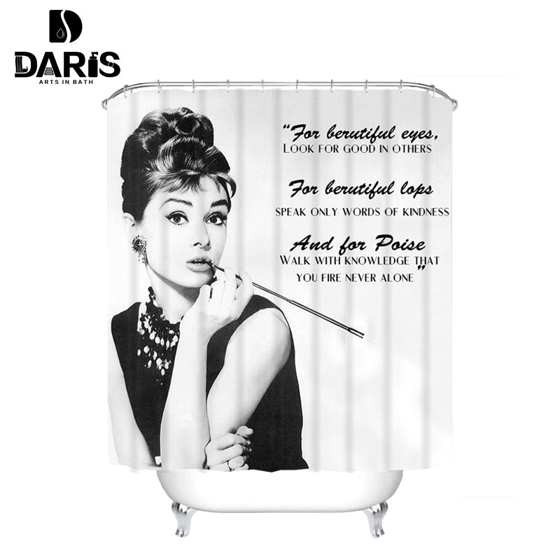 Marilyn Monroe Applying Lipstick Shower Curtain | GoJeek