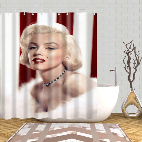 Marilyn Monroe Without Makeup Shower Curtain