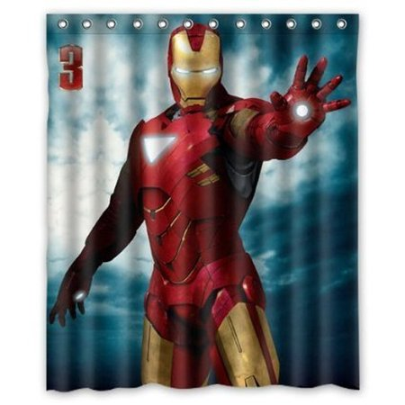 Marvel Avengers Superhero Iron Man Shower Curtain