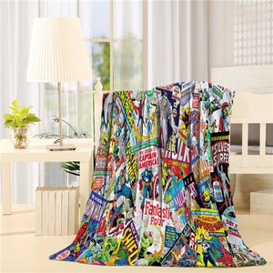 Marvel Comic Avengers Character Throw Blanket