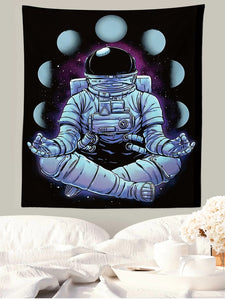 Meditation Zen Style Astronaut Spaceman Tapestry
