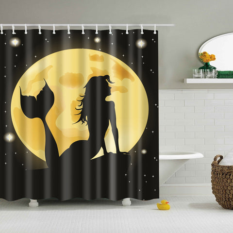 Mermaid with Moon Shower Curtain
