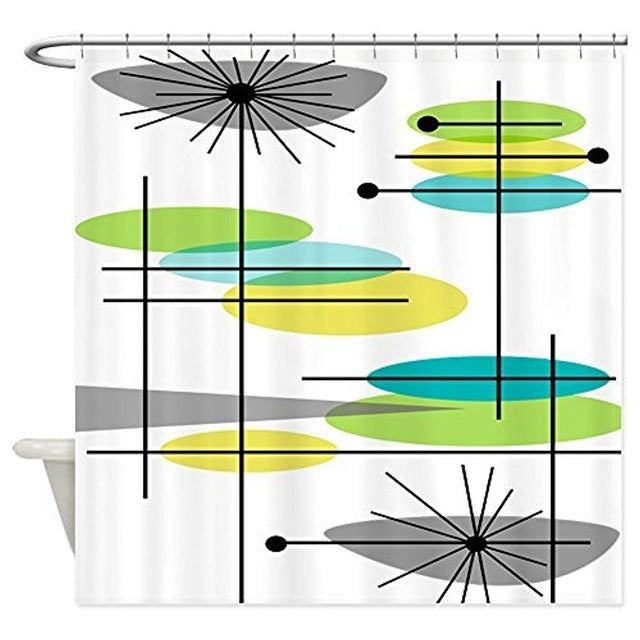 Mid-Century Modern Shower Curtains | GoJeek