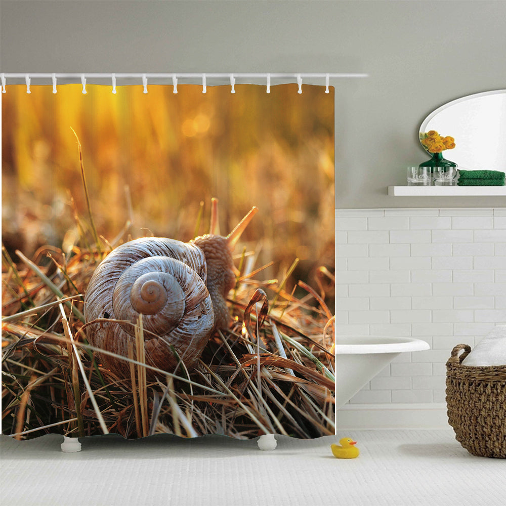 Morning Sunshine Snail Shower Curtain