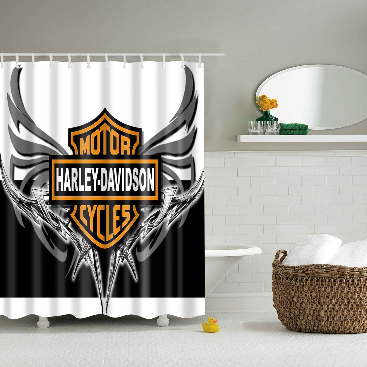 Motor Harley Davidson Cycles Shower Curtain