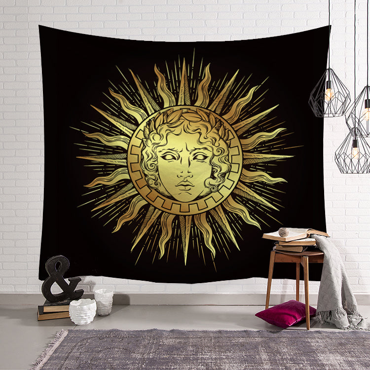 Mythic Greek God of Sun Apollo Tapestry