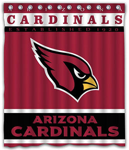 NFL ARIZONA CARDINALS Football Team Logo Shower Curtain