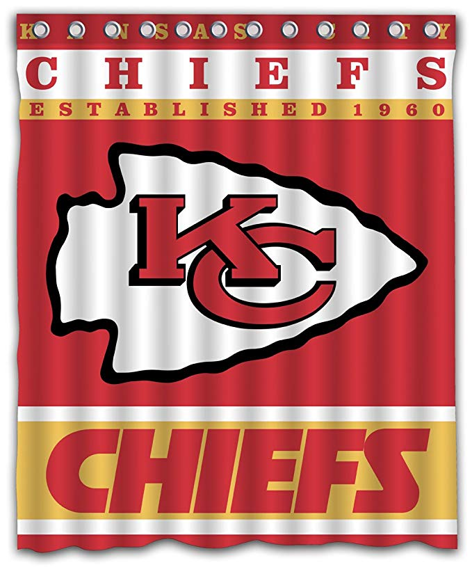 NFL CHIEFS Football Team Logo Shower Curtain