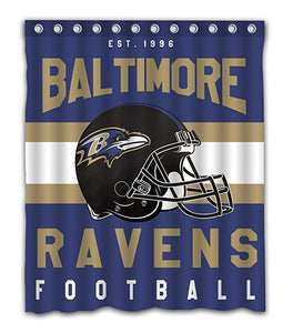 NFL Football Helmet Baltimore Ravens Shower Curtain
