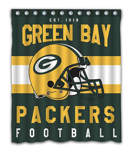 NFL Football Helmet Green Bay Packers Shower Curtain