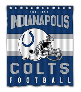 NFL Football Helmet Indianapolis Colts Shower Curtain