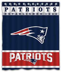 NFL Football New England Patriots Team Shower Curtain