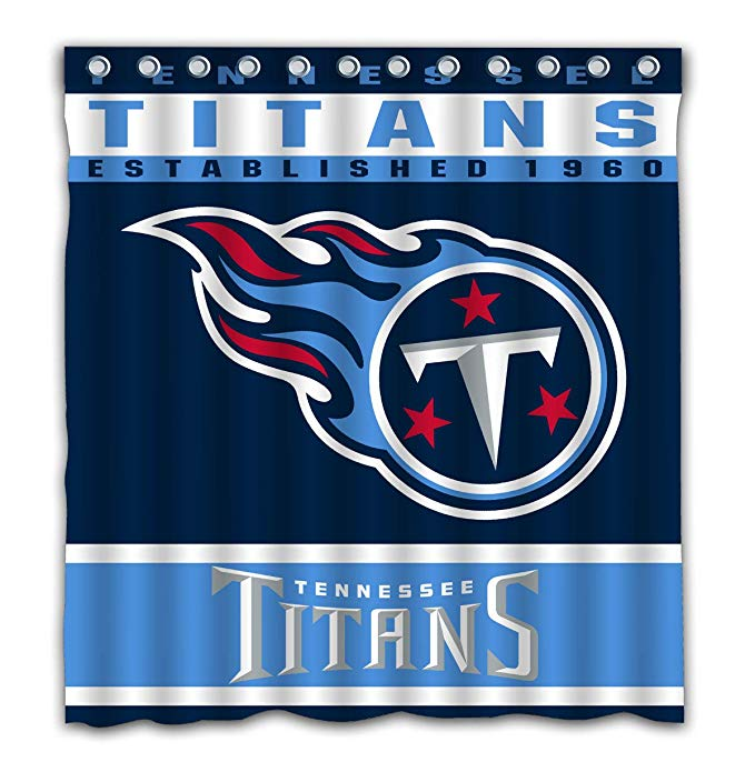 NFL Football Sport Flag Tennessee Titans Shower Curtain