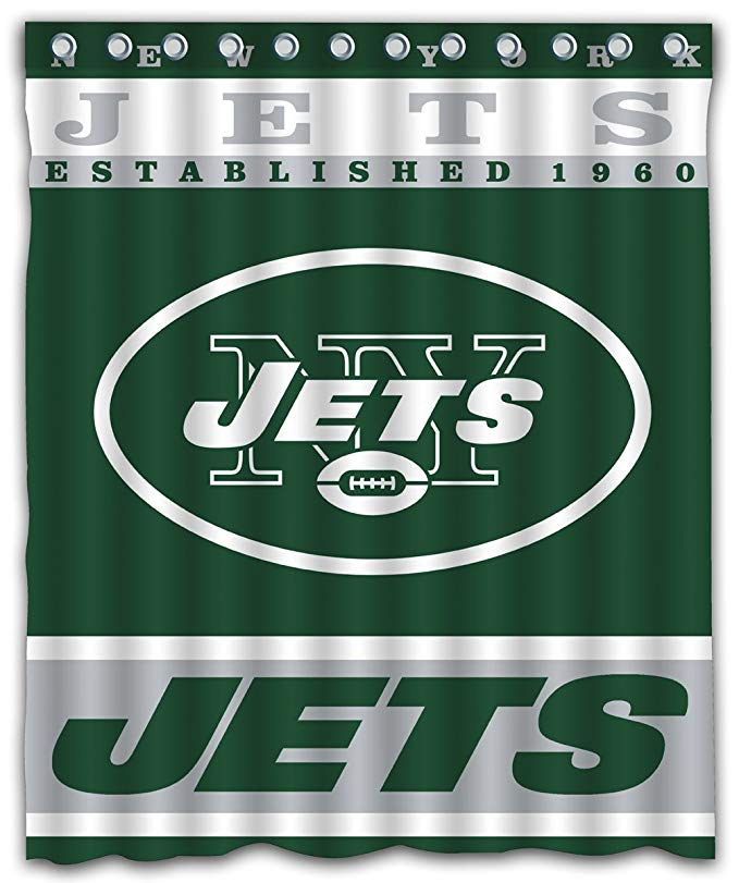 NFL JETS Football Team Logo Shower Curtain