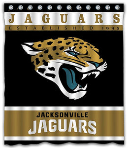 NFL Jaguars Football Team Logo Shower Curtain