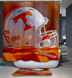 NFL Tennessee Volunteers Football Helmet Shower Curtain