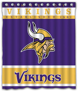 NFL Vikings Football Team Logo Shower Curtain