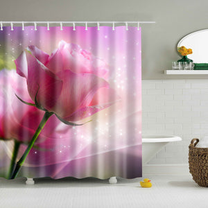 Natural Pink Roses Shower Curtain