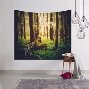 Natural Scenery Old Tree Landscape Tapestry