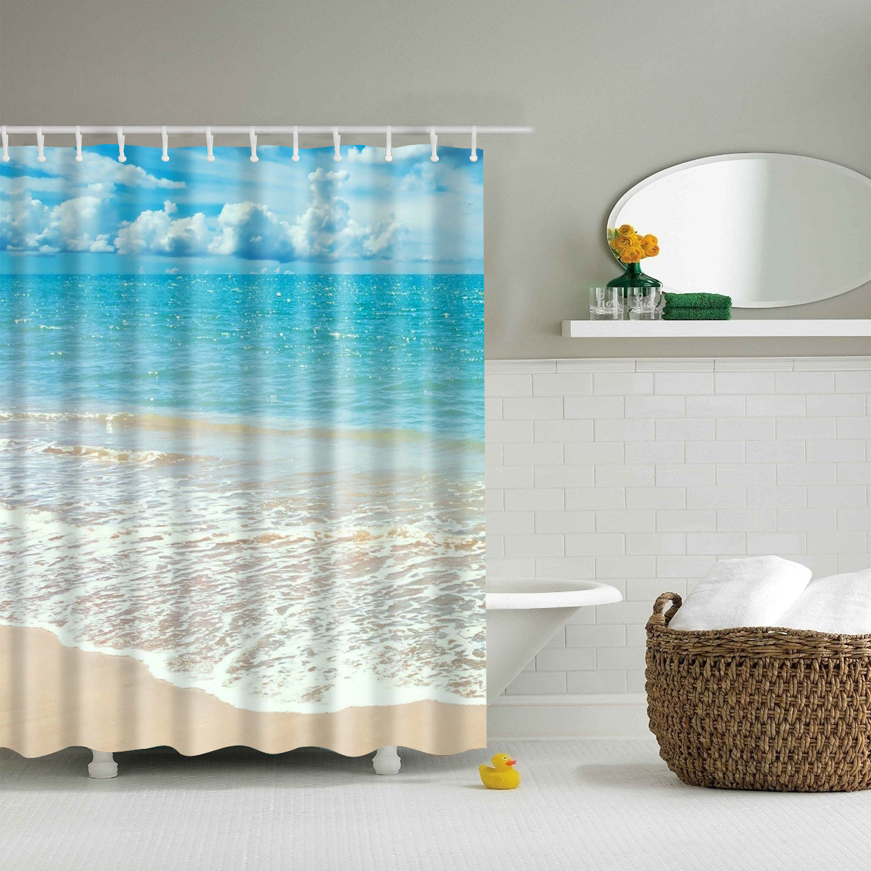 Nature Coastal Scenery Beach Shower Curtain | GoJeek