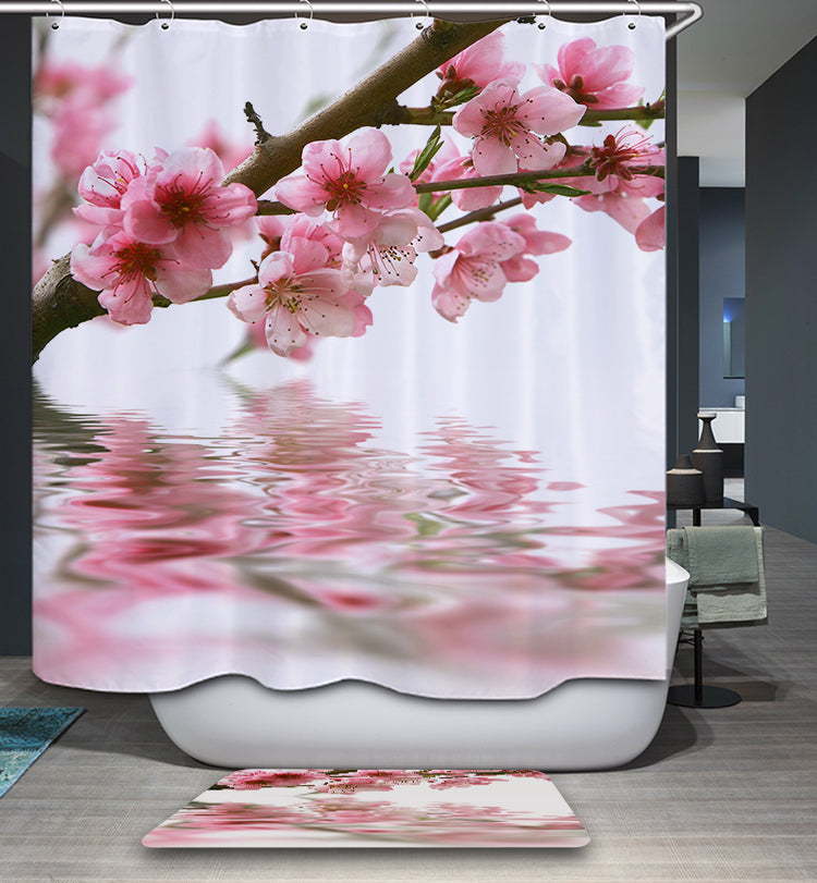 Nature Peach Tree Plum Shower Curtain