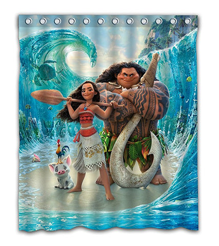 Nautical Anime Poster Moana Shower Curtain