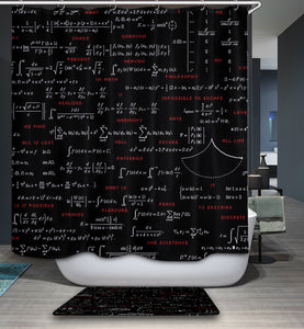 Nerdy Math Blackboard Shower Curtain | GoJeek