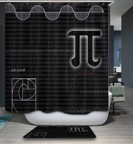 Nerdy Math Pi Shower Curtain