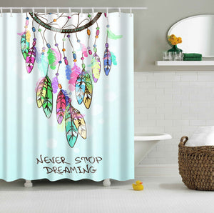 Never Stop Dreaming Dream Catcher Shower Curtain | GoJeek