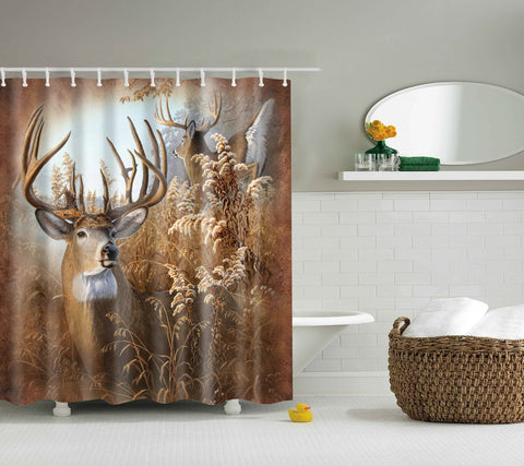 New Deer 70 Country Treasures Deer Shower Curtain