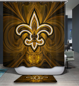 New Orleans Saints Flag NFL Shower Curtain