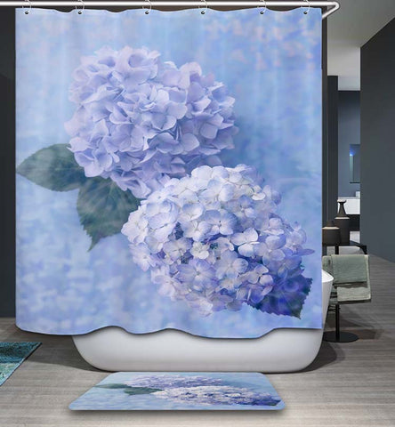 Nice Blue Hydrangea Shower Curtain