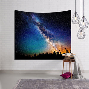 Night Astronomy Science Space Fossil Galaxy Tapestry