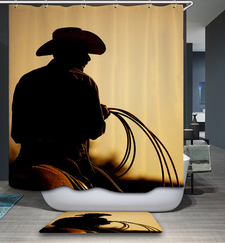 Tenda da doccia Western Nightfall Riding Silhouette Nightfall