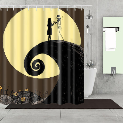 Nightmare Before Christmas Movie Poster Shower Curtain