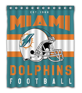 Northwest NFL Football Helmet Miami Dolphins Shower Curtain