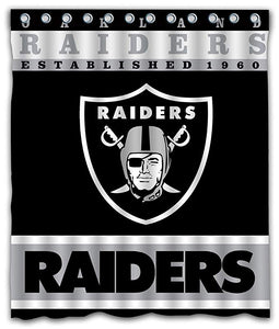 Oakland Raiders Team Flag Shower Curtain