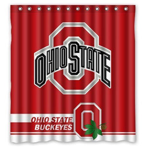 Ohio State Buckeyes NFL Football Team Shower Curtain