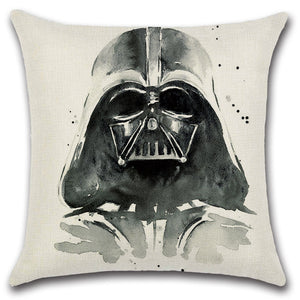 Oil Painting Darth Vader Throw Pillow Cover