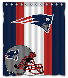 PATRIOTS Football Team Striped Flag Shower Curtain