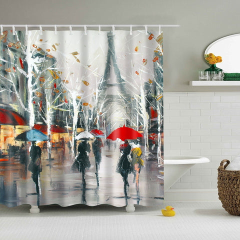 Tenda da doccia Paris in the Rain Painting