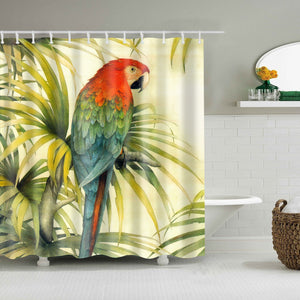 Parrot Holding on Tree Shower Curtain