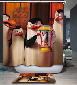 Penguins of Madagascar Shower Curtain
