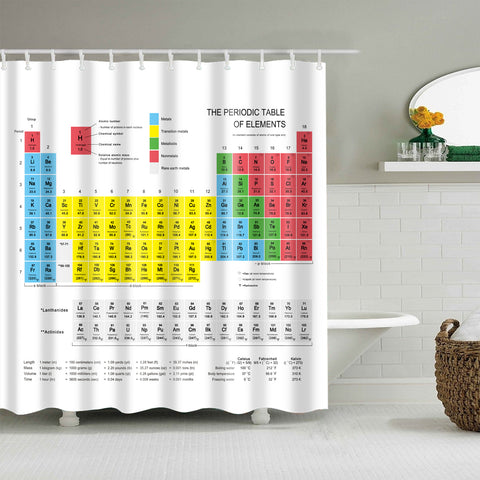 Periodic Table of Elements Shower Curtains Bathroom Decor
