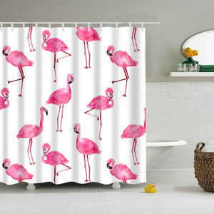 Pink Flamingo Shower Curtain Animal Bath Decor | GoJeek