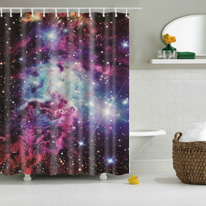Pink Nebula Outer Space Shower Curtain | GoJeek