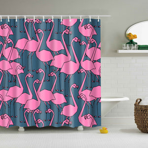 Pink Weird Flamingo Shower Curtain | GoJeek