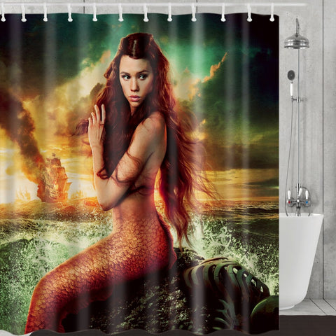 Pirates of the Caribbean Syrena Mermaid Shower Curtain