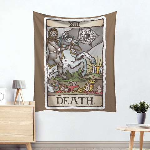 Pluto Death Colorful Tarot Card Tapestry